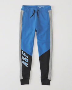 kids colorblock joggers