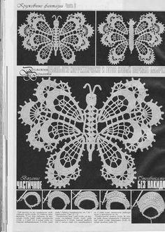"Photo from album ""Дуплет on Yandex. Filet Crochet, Crochet Diagram, Freeform Crochet, Crochet Chart, Crochet Motif, Crochet Doilies, Crochet Stitches, Crochet Butterfly Pattern, Irish Crochet Patterns"