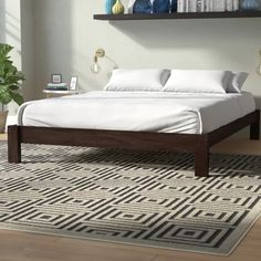 Mistana Dejon Platform Bed & Reviews | Wayfair Bed Frame, Panel Bed, Smart Bed, Bed, Furniture, Upholstered Panel Bed, How To Make Bed, Platform Bed, Solid Bed