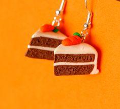 Carrot cake earrings miniature kawaii Polymer clay