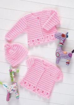 Crochet Cardigans & Hat in Stylecraft Wondersoft 4 ply - 8571