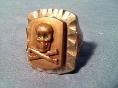 Vintage mexican biker ring