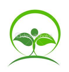 Wellness logo vector — Stock Vector © Glopphy #34947725  #health #nature #leafs #green #people