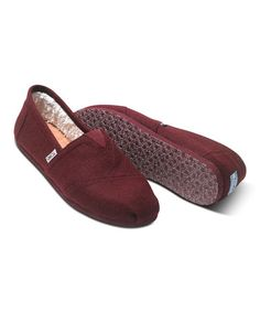 1615e9a05f84 Love this Burgundy Woolen Classics by TOMS on  zulily!  zulilyfinds Workout  Shoes