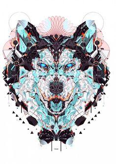 Yo Az Wolf Illustration join us http://pinterest.com/koztar