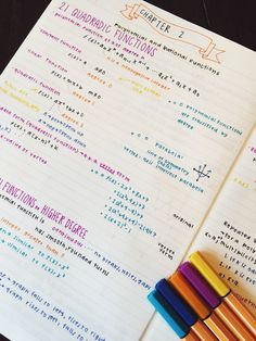 09.15// Math isn't my strong suit so colorful fun notes are a necessity for this class ☀️