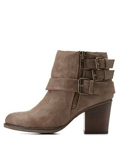 Madden Girl Belt-Wrapped Booties #CharlotteRusse