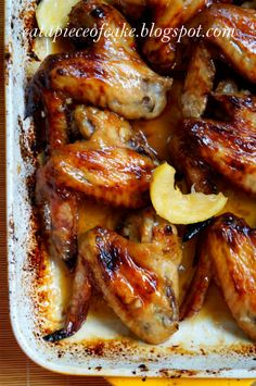 Piece of Cake: Honey Lemon Chicken Wings