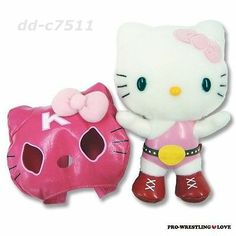 Hello kitty pro-wrestling Plush SANRIO from JAPAN Limited Time Offer OOAK Rare