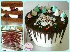Scharzwälder kirsch drip cake Kirsche obers schokolade Cake, Desserts, Food, Cherries, Chocolate, Tailgate Desserts, Deserts, Kuchen, Essen
