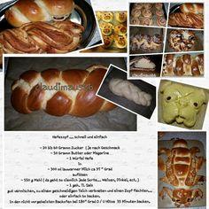 Hefeteig / Mops backen ♡ Mit diesem Rezept kann man wirklich alles machen.  Hefezopf, Rosinenschnecken, Puddingteilchen,  Nussschleifen,   Apfeltaschen,  Marz...