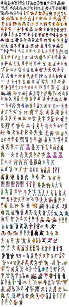 Every Pokemon Trainer Sprite