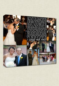 PARENTS GIFTS First Dance Father Daughter Dance Wedding by Geezees Custom Canvas