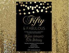 31 best printable birthday invitation templates elegant birthday fifty and fabulous invitation any age fabulous 50 invitations 50 and fabulous invites filmwisefo