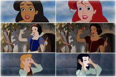 Le principesse Disney immaginate con altri caratteri etnici