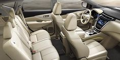 2015 Nissan Murano crossover premium interior in cashmere leather with advanced drive assist display on center console