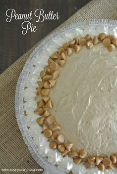 Kay's Kitchen Peanut Butter Pie: Crust: 1 cube butter, 1 pkg graham crackers, 1/4 c sugar. The Pie: 8 oz. softened cream cheese, 14 oz. can Eagle Brand Milk (Sweetened), 3/4 c peanut butter, 1 tsp. vanilla, 3 Tbsp. lemon juice, 1 cup whipped cream or 4 oz. frozen whipped topping (Kay would NEVER use cool whip!). Beat cheese until fluffy. Beat in milk & peanut butter until smooth. Stir in lemon & vanilla. Fold in cream & turn into crust. Sprinkle graham cracker crumbs on top. Refrigerate 4…