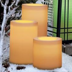 outdoor LED pillar #candles with remote and timer. 8 different colors. #partylite