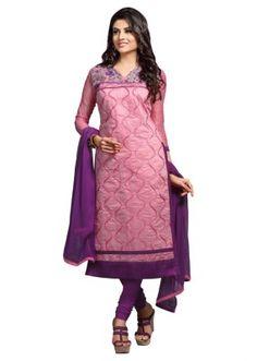 Eid Specialel Pink CHANDERI COTTON Churidar Suit - 1111