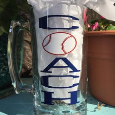 Baseball Coach Beer Mug-24 oz Beer Mug-Fun Gift for by CraftyKnee