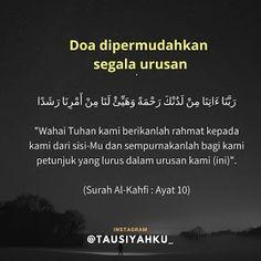 18 Ideas quotes indonesia islam allah for 2019 Pray Quotes, Quran Quotes Love, Quran Quotes Inspirational, Allah Quotes, Qoutes, Islamic Quotes, Muslim Quotes, Hijrah Islam, Doa Islam