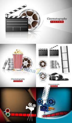 Film vector material download