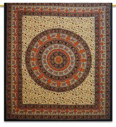 Mandala Tapestry , Indian Cotton Tapestries , Full Size Sheets ... http://www.shilimukh.com/product-category/tapestry-bedsheets