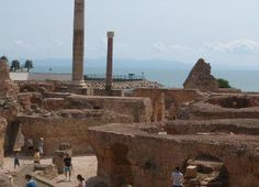 ''The ruins of Carthage'' Was the Phoenician capital and also bacame the capital of the Roman government.