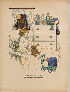Telemann, Paul: Wie uns're kleinen Hausmütterlein im Kriege müssen fleissig sein : ein lustiges Bilderbuch für unsere Jugend , 1915