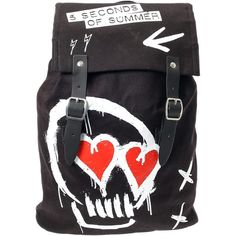 5 Seconds of Summer Backpack ($34) ❤ liked on Polyvore featuring bags, backpacks, flap backpack, summer bags, summer backpack, rucksack bag y knapsack bags