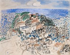 View Le Village au bord de la mer by Raoul Dufy on artnet. Browse upcoming and past auction lots by Raoul Dufy. Raoul Dufy, Watercolor Illustration, Watercolor Art, Le Village, Georges Braque, Painting People, Post Impressionism, Scenic Design, Art Graphique