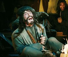 (gif) Bofur laughing at Rivendell :) Hmm, I just realized, I already have this one pinned! :D But it's great, because it's Bofur laughing. Soooo I'll just keep it here.