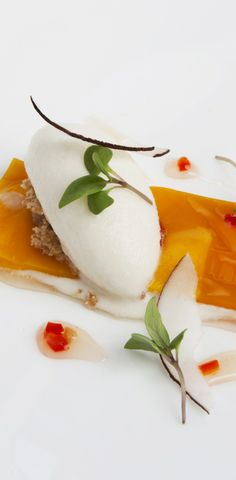 Passion fruit parfait with mango, lemongrass and lime - Richard Corrigan