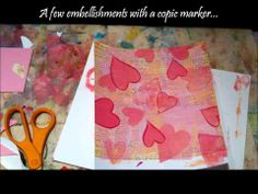 great little video- paint your own scrap book paper