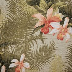 TOMMY BAHAMA Orchid Palm Tropical Green Coral 3pc FULL QUEEN QUILT SET #TommyBahama #Tropical