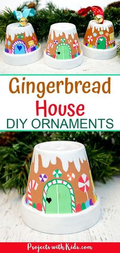 The Sweetest Gingerbread House Ornaments Kids Can Make These ginge. - The Sweetest Gingerbread House Ornaments Kids Can Make These gingerbread ornaments ar - Christmas Crafts For Adults, Kids Christmas Ornaments, House Ornaments, Christmas Projects, Christmas Fun, Holiday Crafts, Spring Crafts, Diy Ornaments For Kids, Christmas Activities For Adults