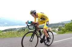 Christopher Froome (Sky) rides to the victory in the stage 17 time trial