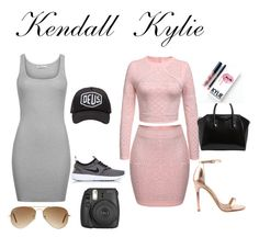 """K&k"" by youngqueen1738 on Polyvore featuring T By Alexander Wang, Ray-Ban, Deus ex Machina, NIKE, Liliana, Givenchy, Kylie Cosmetics and Fujifilm"