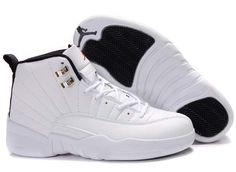 Wholesale cheap jordans New Air Jordan 12 (XII) Retro - All White - Black - Jordan Shoes Girls, Air Jordan Shoes, Girls Shoes, Urban Apparel, Sneakers Fashion, Shoes Sneakers, Nike Fashion, Adidas Shoes, Fashion Shoes
