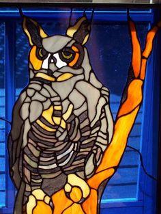 Owl - by C Bass Glass #StainedGlassOwl