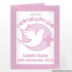 Personal Touch Gifts - Confirmation Card-Pink, £2.49 (http://personaltouchgifts.co.uk/confirmation-card-pink/)