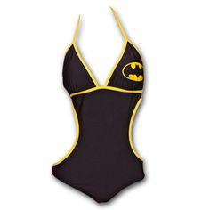 BATMAN Classic One Piece Swimsuit. Shut up and take my money!