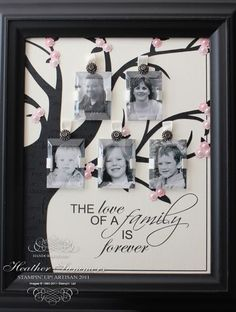 Beveled Windows family tree - Stampin Up has these windows so I'll have to duplicate this!