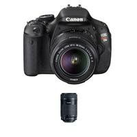 Canon EOS Rebel T3i SLR Camera with Canon EF-S 18-55mm IS II Lens - Bundle - with Canon EF-S 55-250mm f/4-5.6...