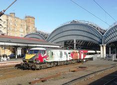 on the 1700 KX-Edinburgh departs York. Electric Locomotive, Diesel Locomotive, Third Rail, British Rail, Electric Train, Sydney Harbour Bridge, Edinburgh, Trains, York