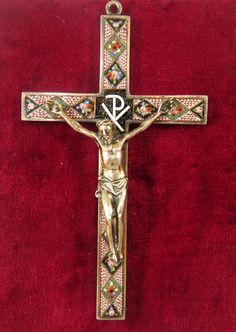Roman Micro Mosaic silver cross pendant: http://www.rubylane.com/item/381215-CC417/Antique-Roman-Micro-Mosaic-silver-cross