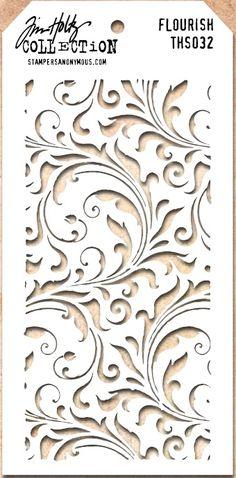 Tim Holtz Stencil THS032 Flourish