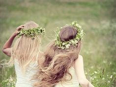 ..binder en blomsterkrans..
