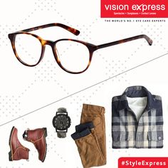 24876a9f6d Show your fun side in these tortoise shell frames to go with your  semi-casuals