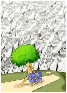 Adopt A Tree Campaign - Save The Trees, Save The Planet ! Adopt A Tree, Shoot video & send it to us. Lend a hand to save trees. Satire, Pictures With Deep Meaning, Sketch Manga, Meaningful Pictures, Satirical Illustrations, Save Our Earth, Save Nature, Ap Spanish, Environmental Art